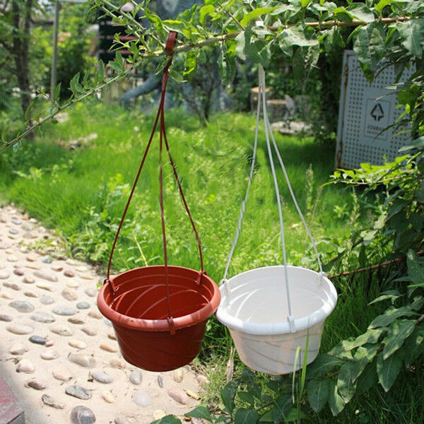 1 10x hanging plant flower pot chain basket planter - Hanging baskets for balcony ...