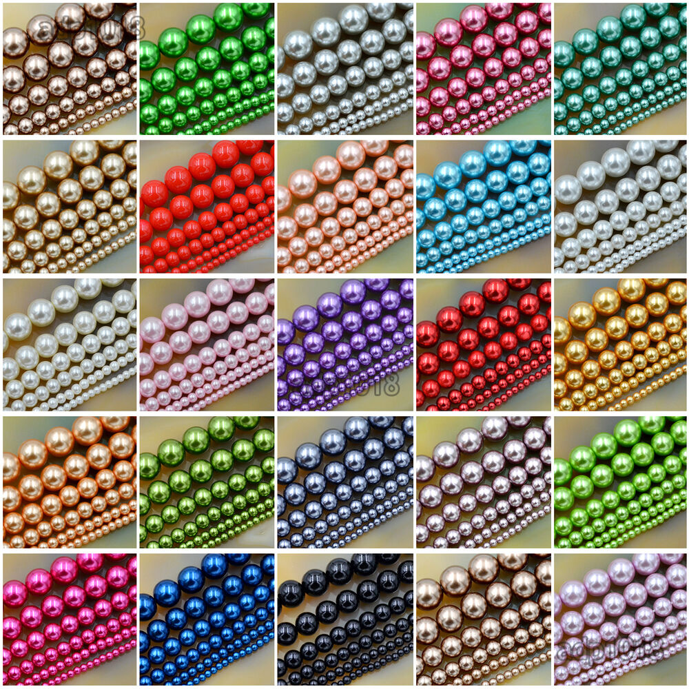 Pearl Beads: Wholesale Top Quality Czech Glass Pearl Round Beads 16