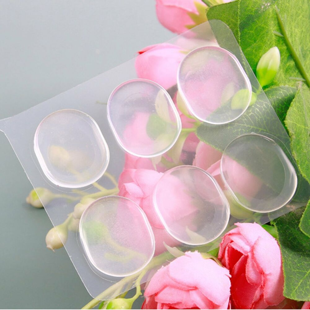 Details about 6pcs mini round clear gel silicone stickers insoles foot shoes care cushion pad