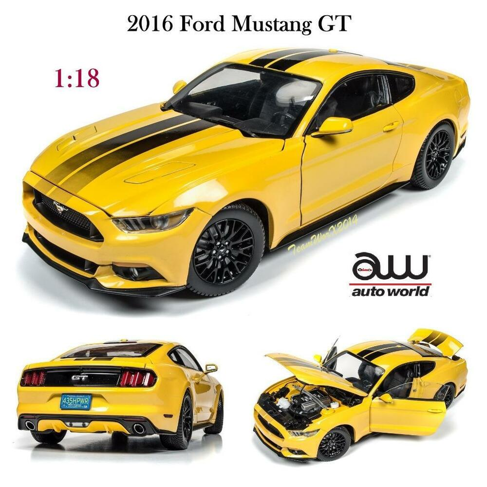 auto world aw229 2016 ford mustang gt tripple yellow. Black Bedroom Furniture Sets. Home Design Ideas