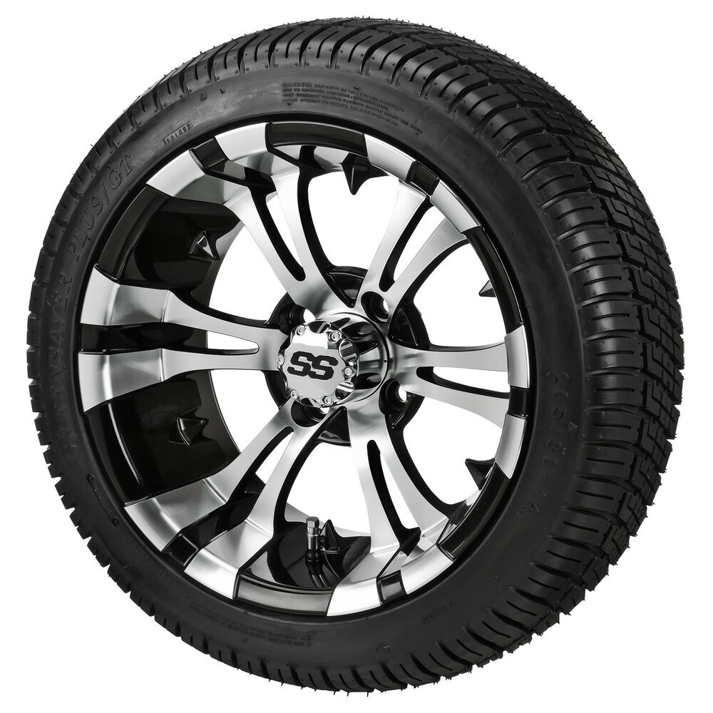 4 itp 14 ss lsi hd aluminum alloy golf cart car rim wheels dot d o t tires ebay. Black Bedroom Furniture Sets. Home Design Ideas