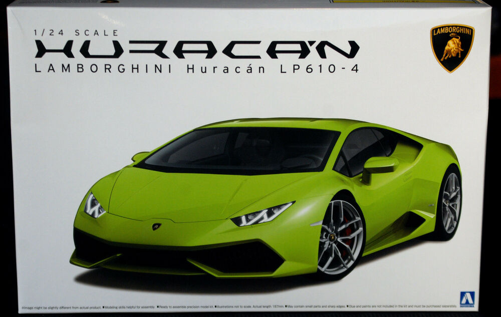2014 lamborghini huracan lp 610 4 1 24 aoshima 013823. Black Bedroom Furniture Sets. Home Design Ideas