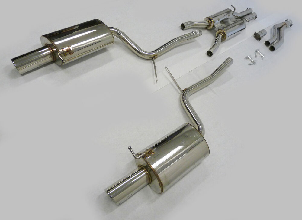 S L on Audi A4 Quattro Exhaust System
