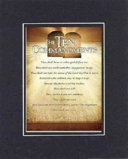For Heartfelt Inspirations The Ten Commandments 8