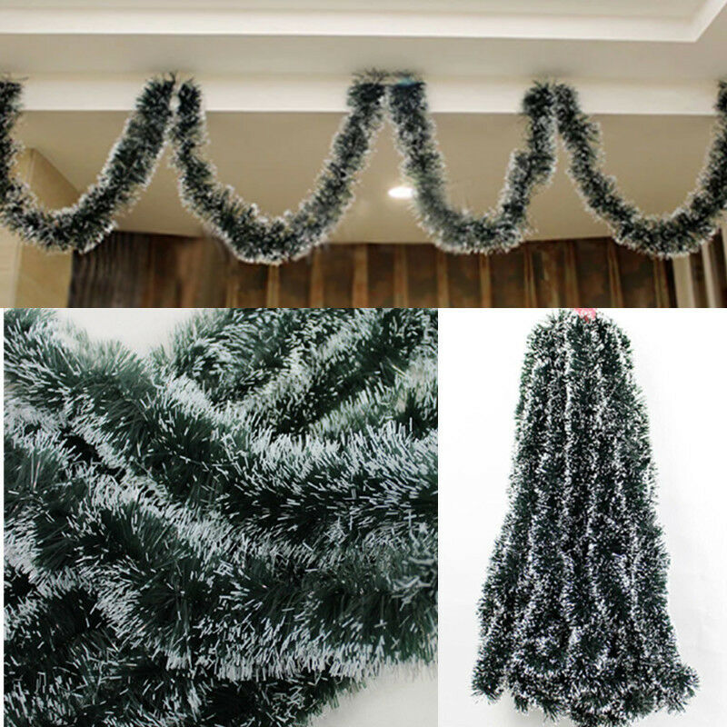 Party pine garland christmas ribbon string xmas tree How to hang garland on a christmas tree