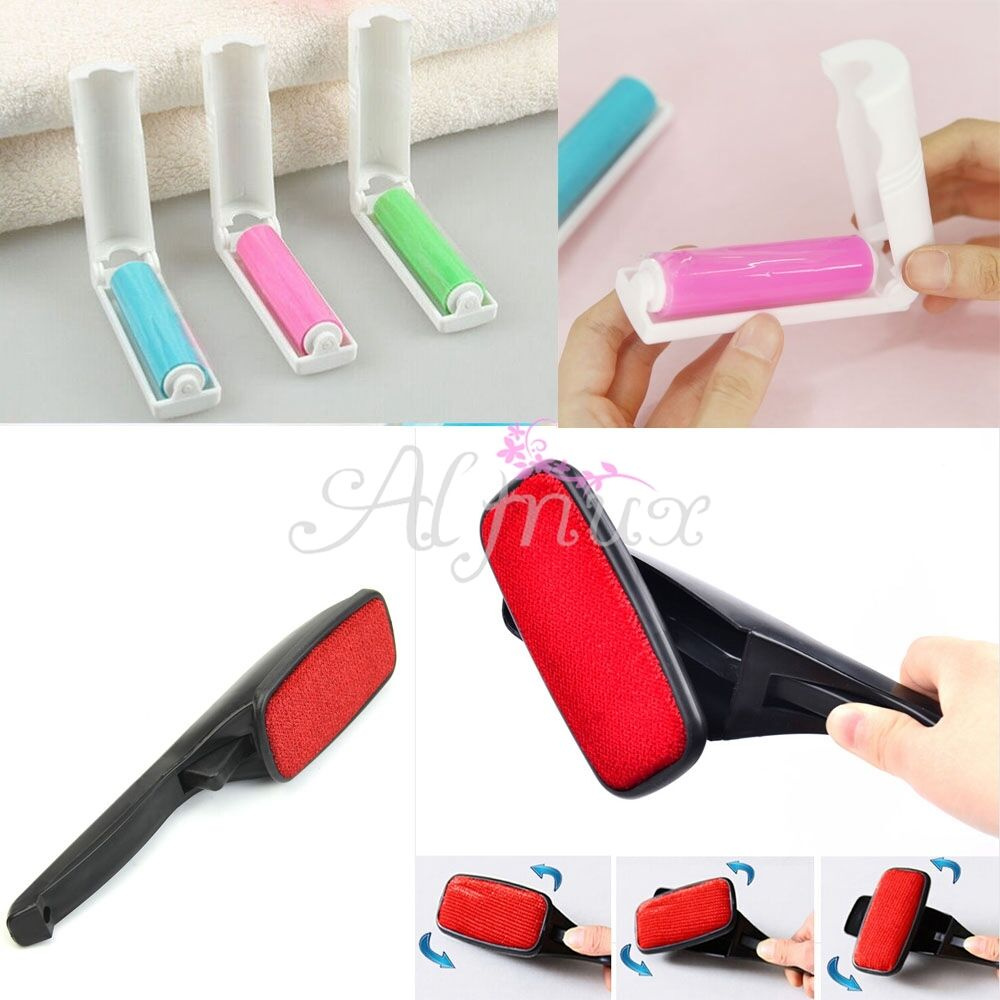 magic pet hair remover clothing cloth cleaning lint dust brush swivel roller ebay. Black Bedroom Furniture Sets. Home Design Ideas