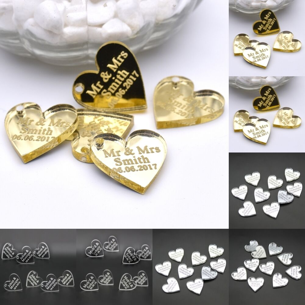 Personalised Wedding Table Gifts : ... Engraved Centerpieces Love Heart Table Decor Wedding Favors eBay