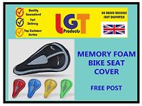 Bike Bicycle seat saddle cover memory foam Bicycle Extra Comfort padding gel 3D!