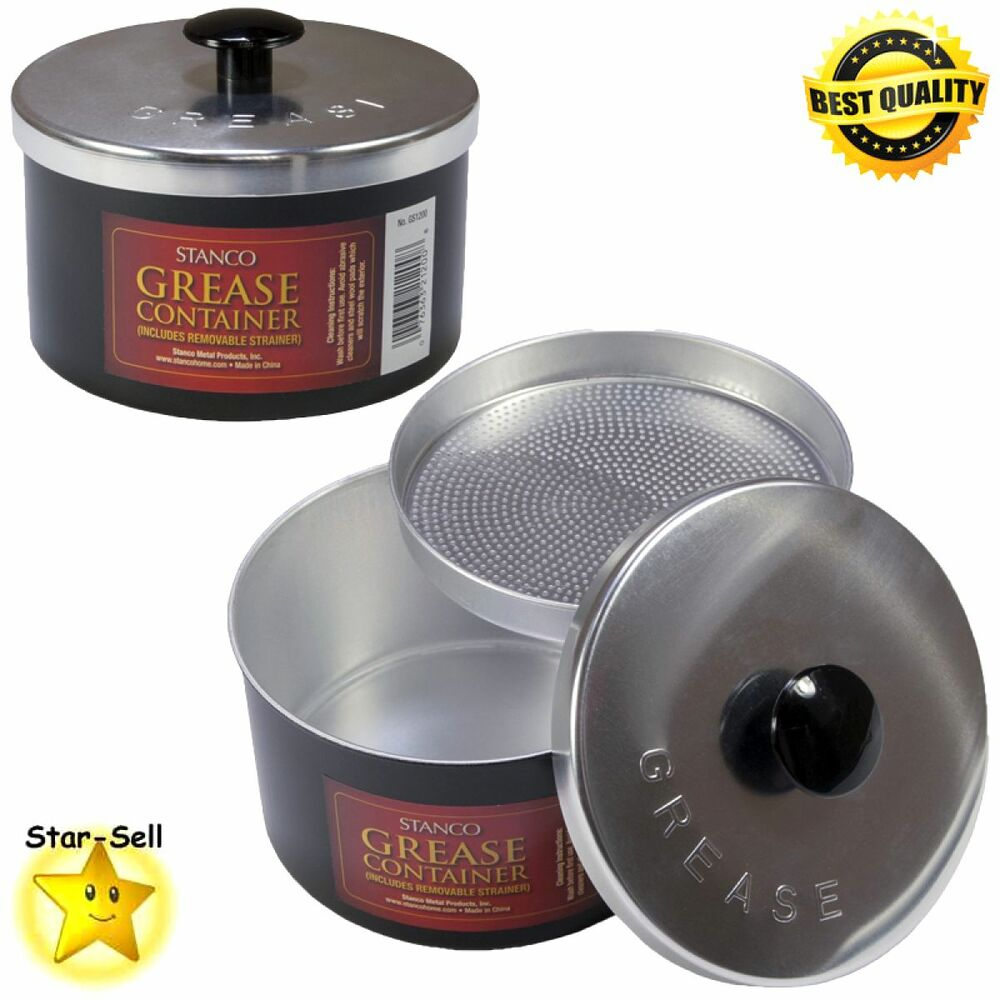 Kitchen non stick grease strainer container frying cooking