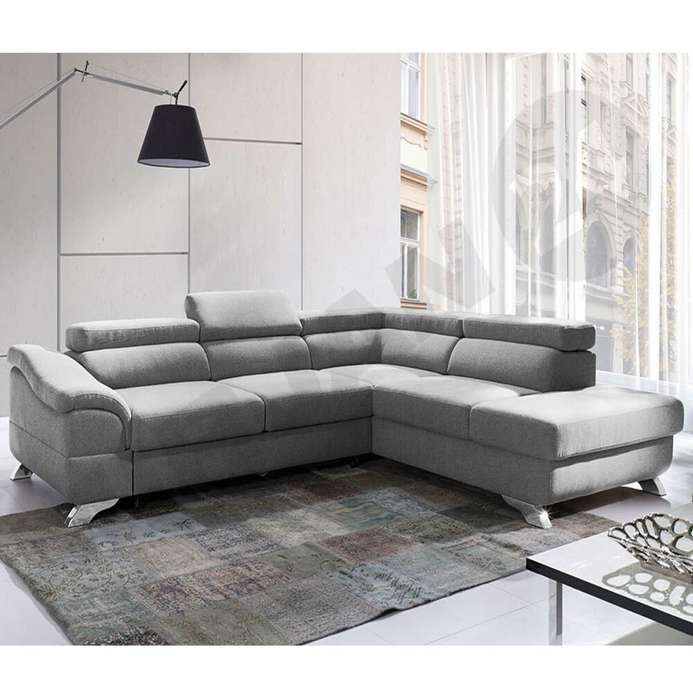 ecksofa forte couchgarnitur sofagarnitur wohnlandschaft mit schlaffunktion ebay. Black Bedroom Furniture Sets. Home Design Ideas