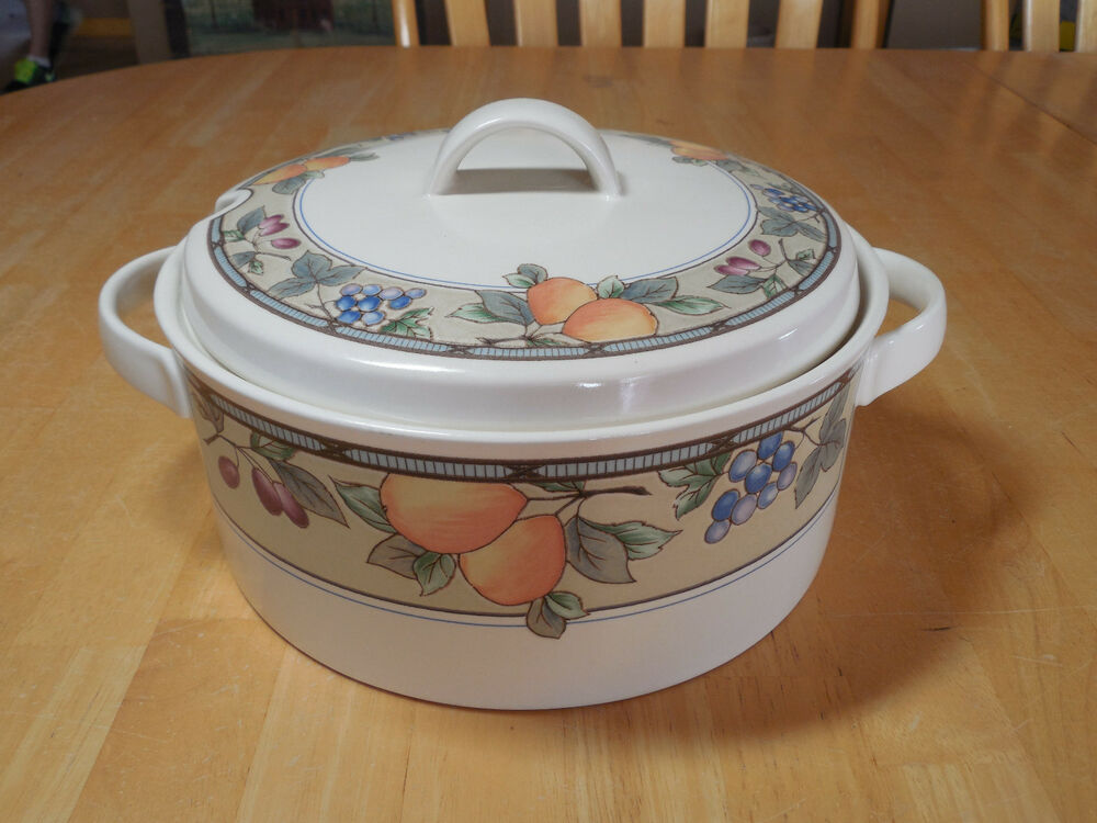 Mikasa Intaglio Garden Harvest Cac29 Soup Tureen With Lid