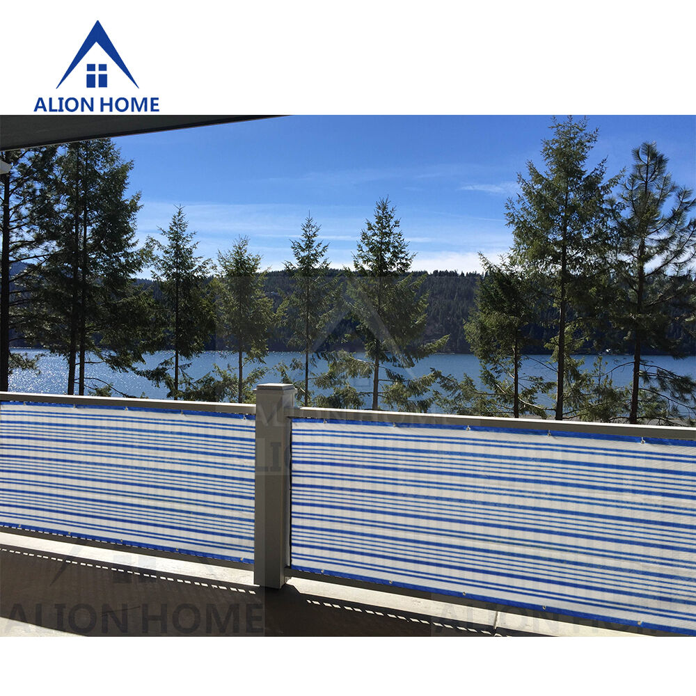 Alion home custom sized privacy screen patio balcony for Pool screen privacy