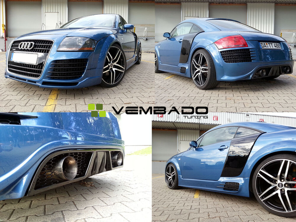 audi tt 8n tuning bodykit r8 diffusor v1 ebay. Black Bedroom Furniture Sets. Home Design Ideas