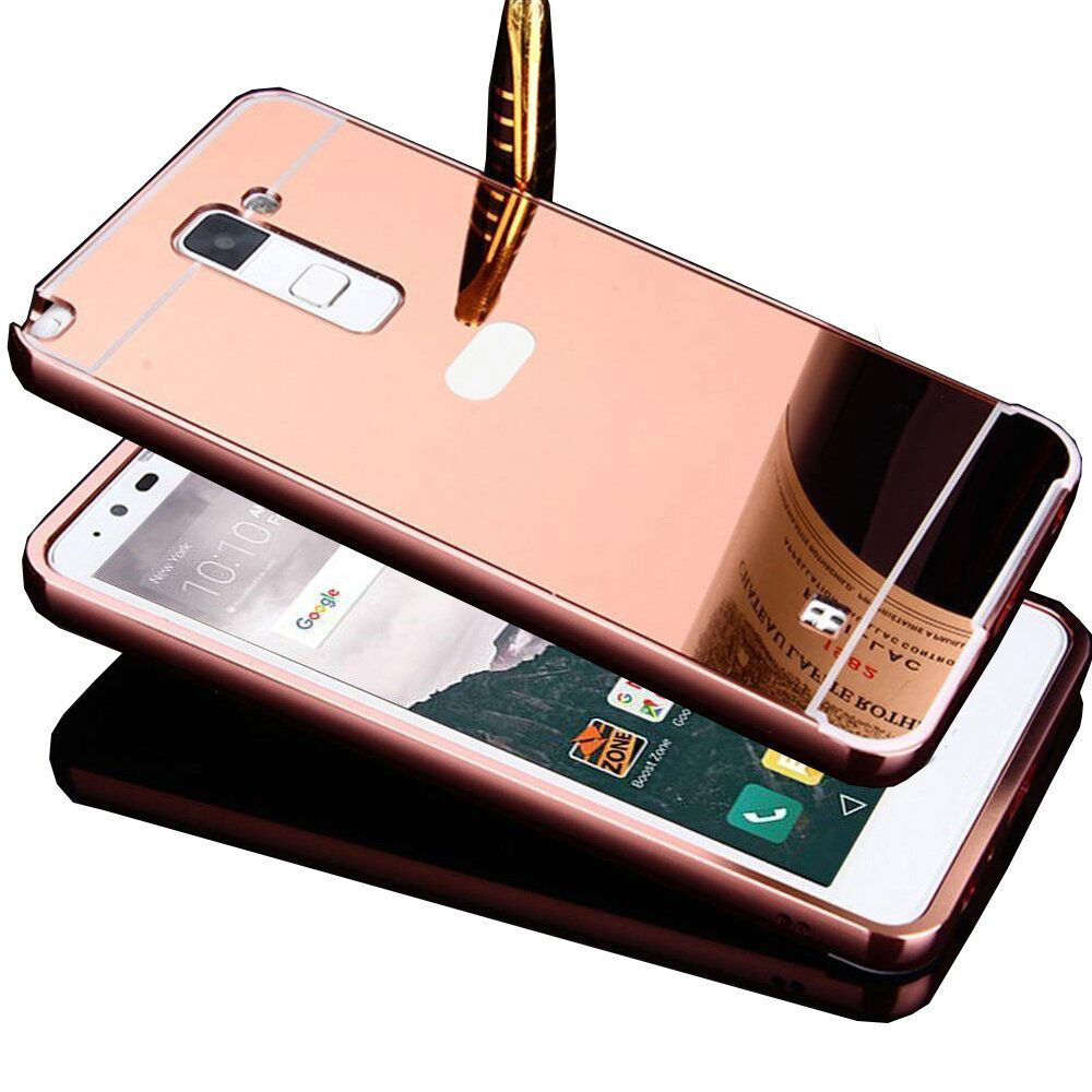Aluminum metal bumper with mirror acrylic back cover case for Mirror your phone