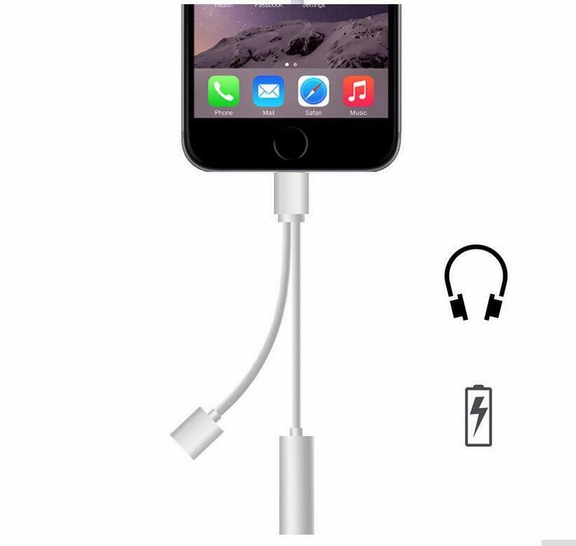 lightning to audio headphone jack connector cable for iphone 7 7 plus ebay. Black Bedroom Furniture Sets. Home Design Ideas