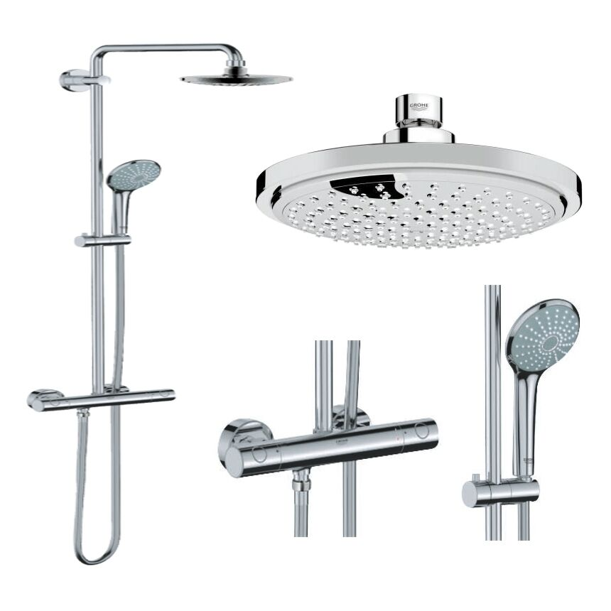 grohe euphoria 27296001 duschsystem duschs ule regendusche rainshower set ebay. Black Bedroom Furniture Sets. Home Design Ideas