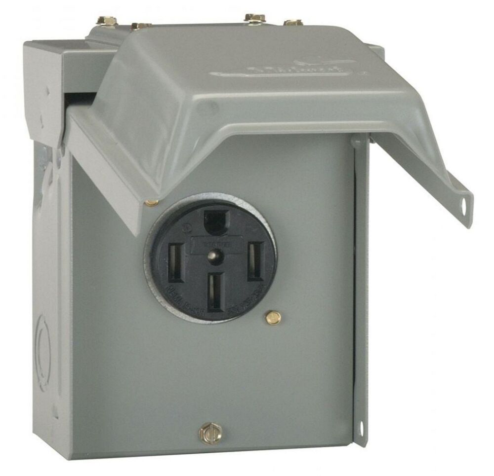 50 Amp Temporary Rv Power Outlet Outdoor Receptacle Plug