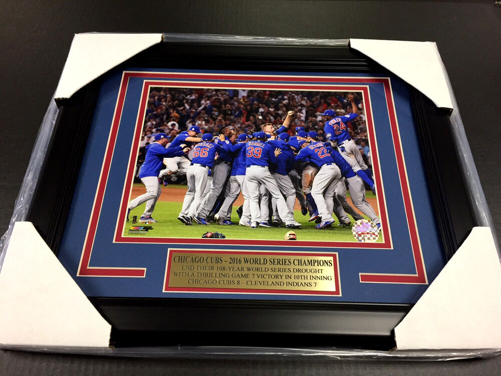 2016 Chicago Cubs World Series Champions Team Framed Photo