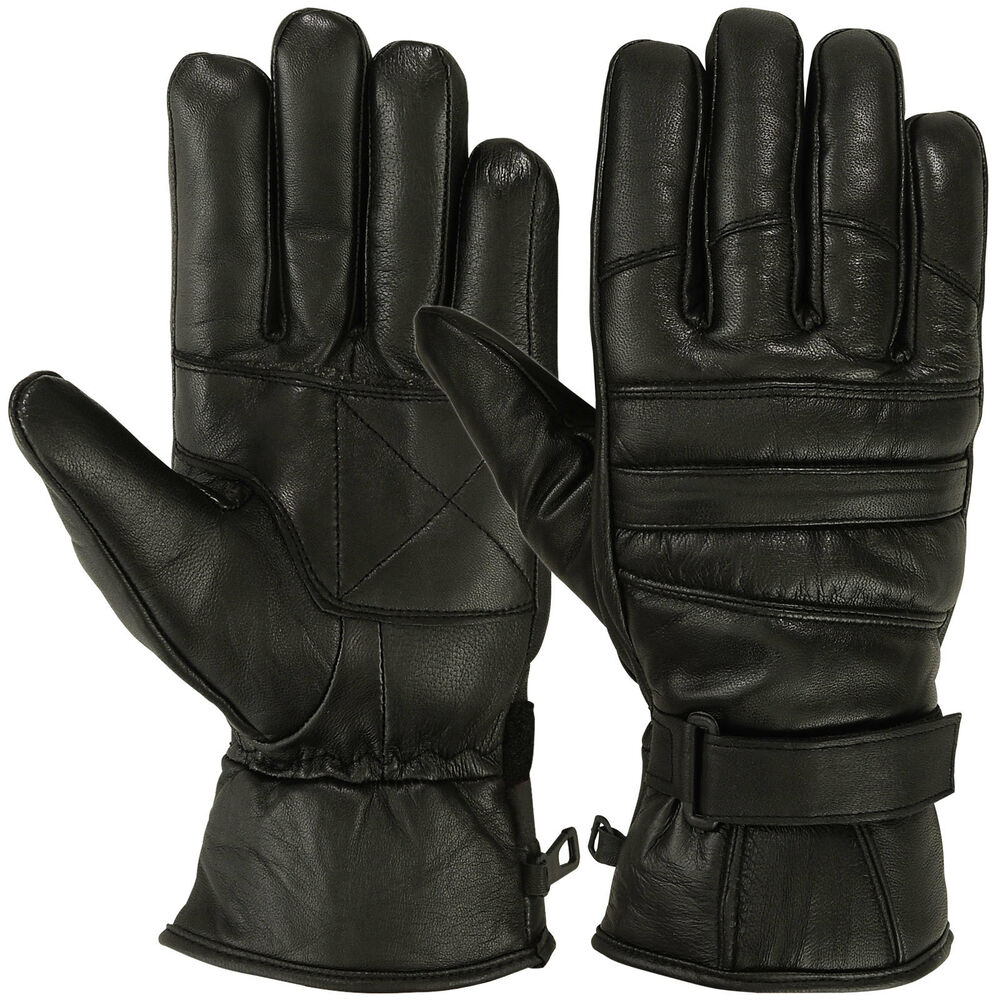 Mens Warm Winter Gloves Dressing Glove Linning Genuine