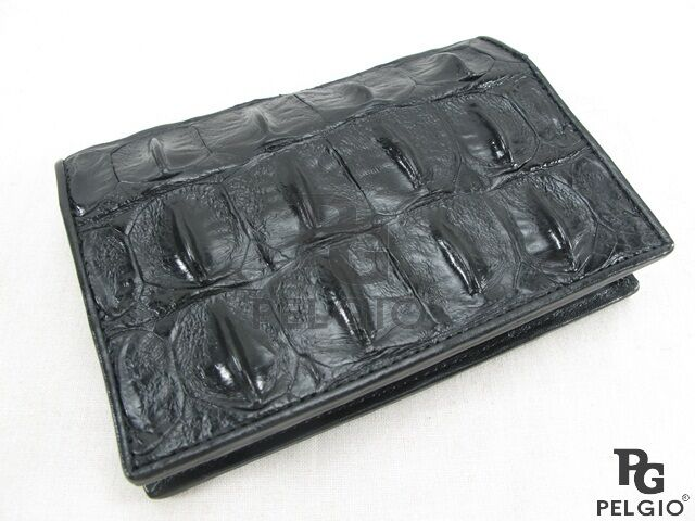 Pelgio Genuine Crocodile Alligator Skin Leather Passport