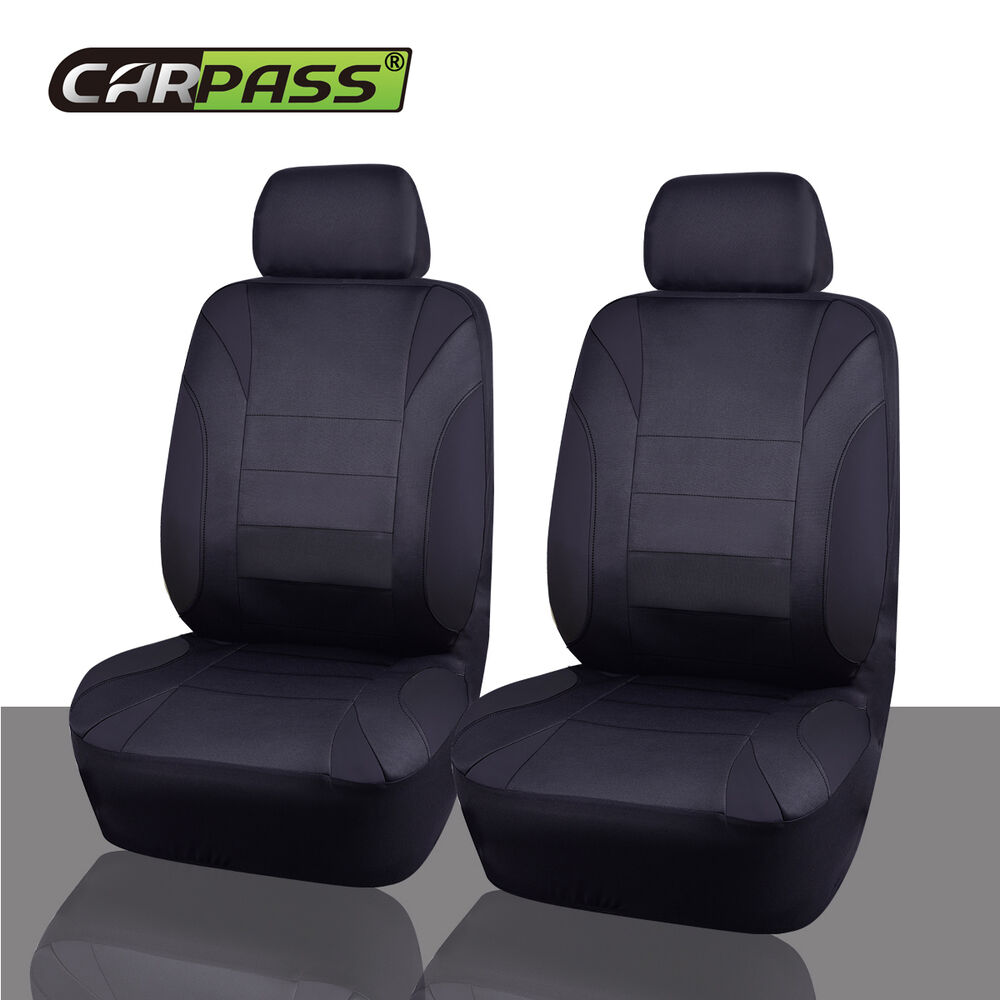 Universal NEOPRENE Car Seat Covers Black Two Front Truck
