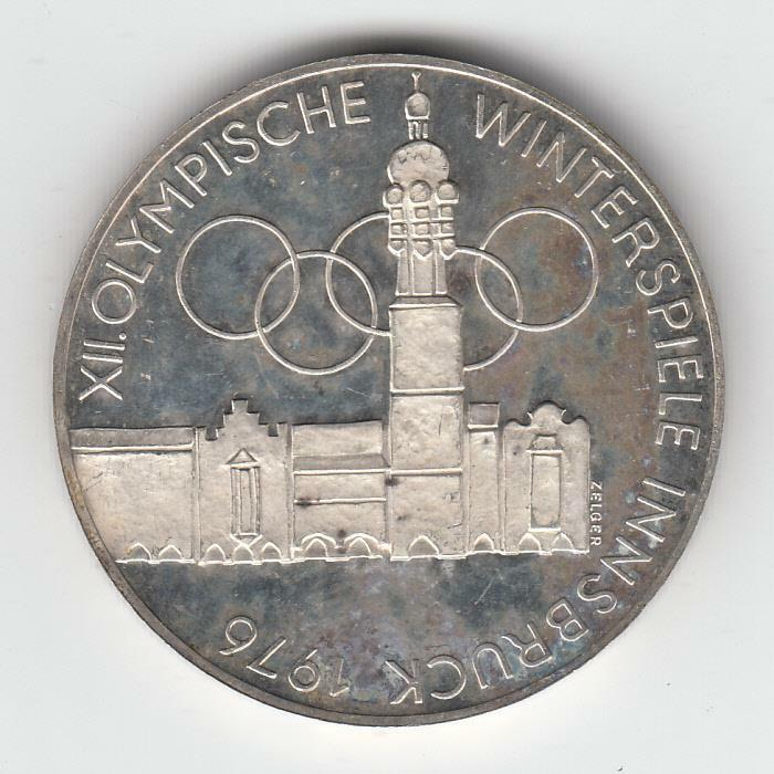 1976 austria 100 schilling silver coin winter olympics. Black Bedroom Furniture Sets. Home Design Ideas