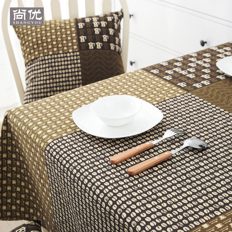 Coffee cotton tablecloth table cover fabric square restaurant rectangle hotel ebay Coffee table tablecloth