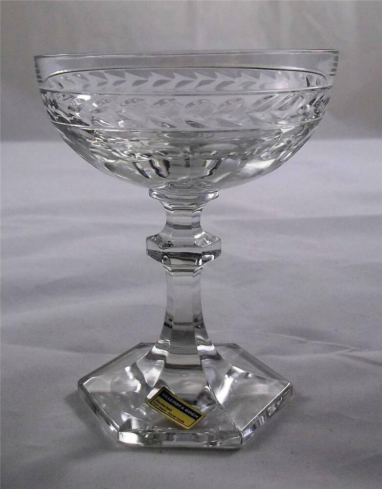 villeroy and boch desiree champagne bowl glass 24 lead