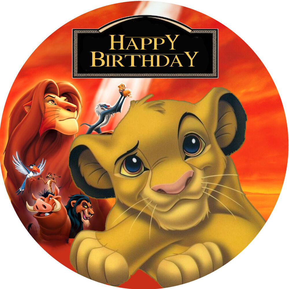 The Lion King Simba Personalised Edible Image REAL Icing ...