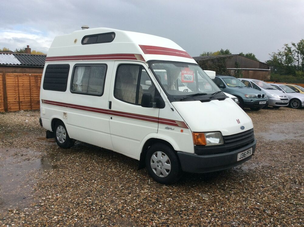 ford transit auto sleeper 4 berth automatic camper van 1991 ebay. Black Bedroom Furniture Sets. Home Design Ideas