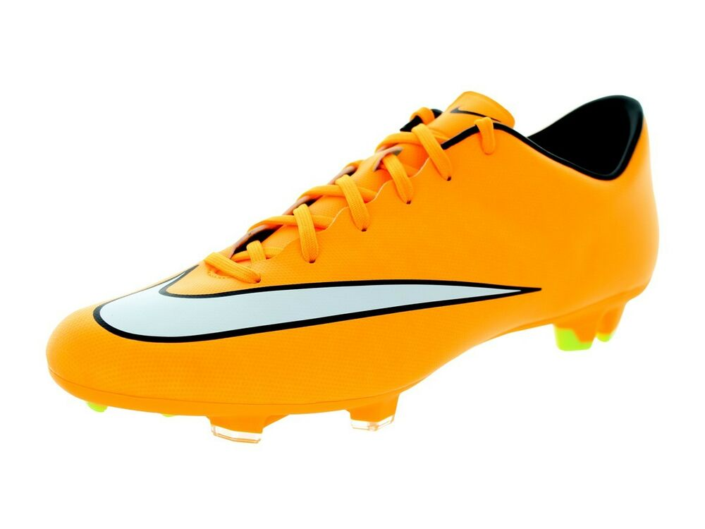 the latest 7d4ac f3a9c Details about Nike Mercurial Victory V FG Laser Orange White BLK 651632-800 soccer  cleat 11 9