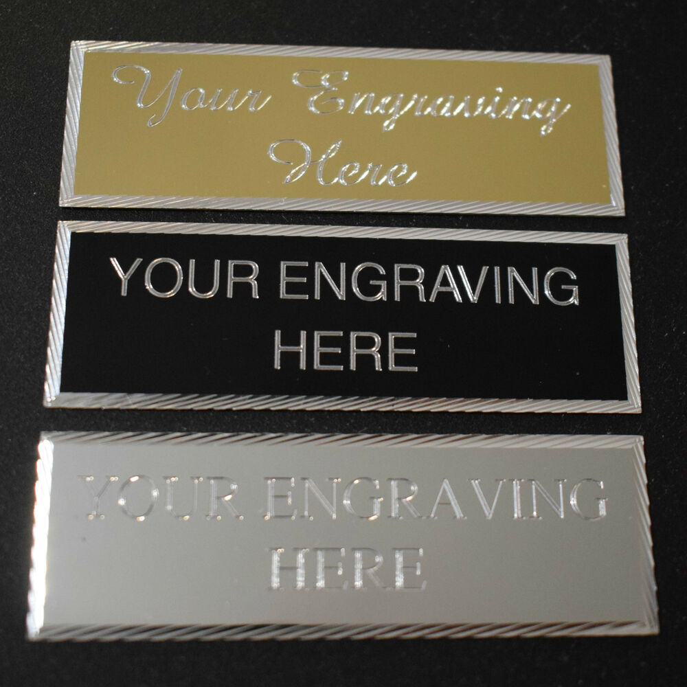 engraved 76 x 25mm trophy plaque award plate picture sports self adhesive ebay. Black Bedroom Furniture Sets. Home Design Ideas