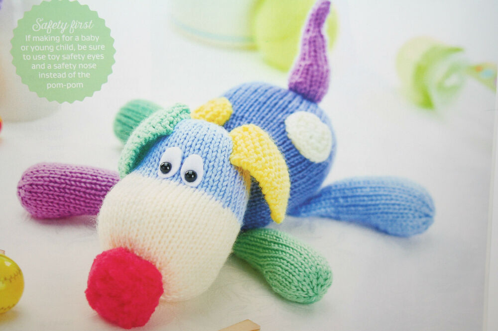 Knitting Patterns For Dogs Toys : Puppy Dog Toy Animal Knitting Pattern eBay