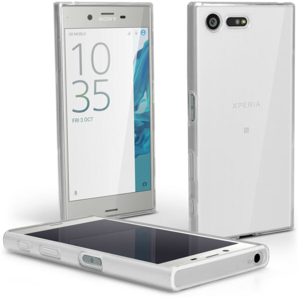 Glossy TPU Gel Case for Sony Xperia X Compact Skin Cover + Screen Protector