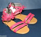 baby Gap NWT Girl's 7 8 9 Pink Strappy Sandals w Heel Zipper & Ankle Tie Shoes