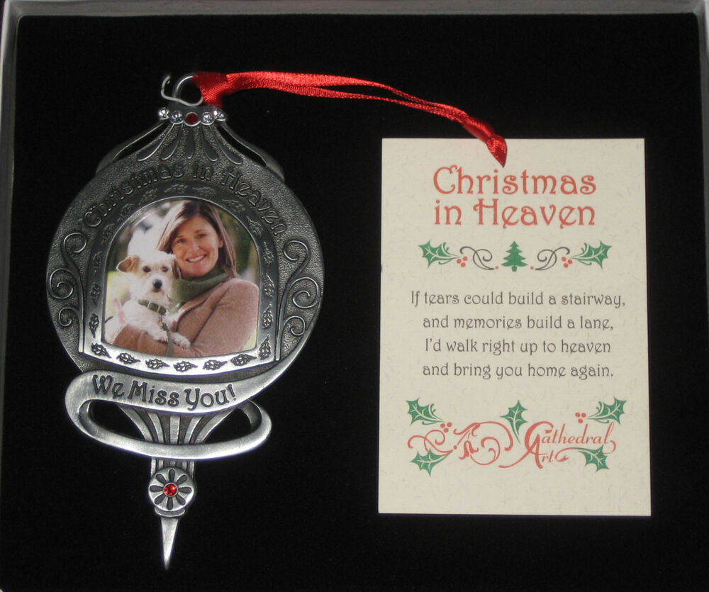 christmas in heaven memorial ornament we miss you photo personalize picture ebay