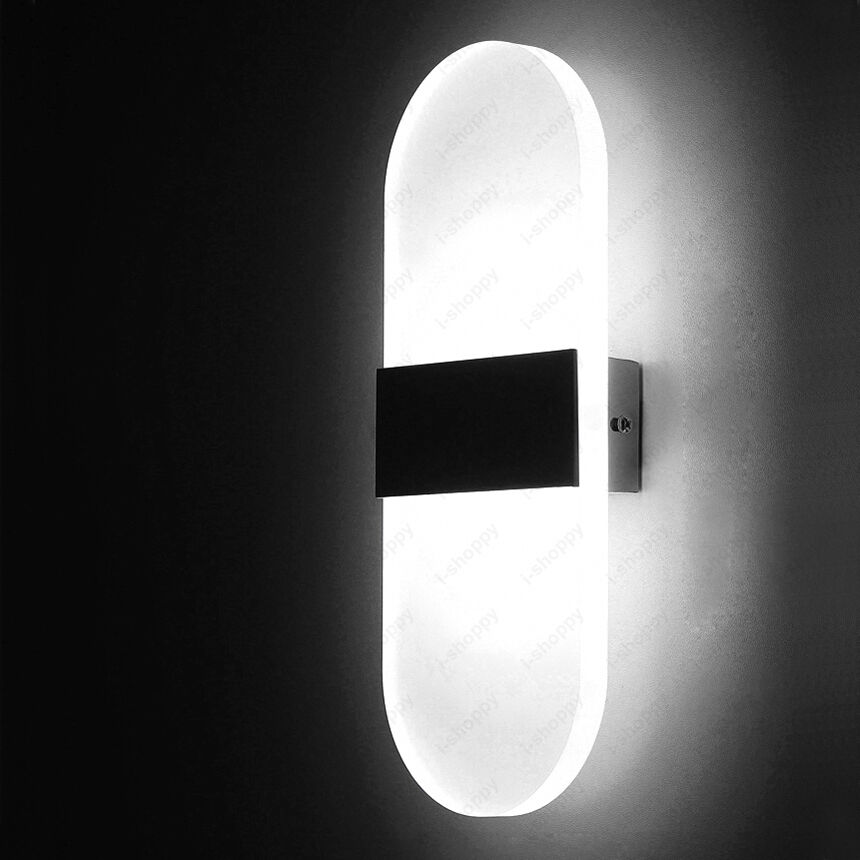 Jackyled Wall Sconces: Indoor 6W LED Wall Sconce Light Acrylic Bedside Lamp