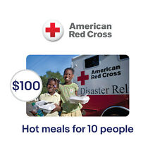 American Red Cross $100 Hot Meals for 10 People Symbolic Charitable Donation