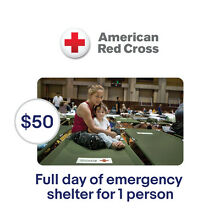 American Red Cross $50 A Day of Emergency Shelter Symbolic Charitable Donation