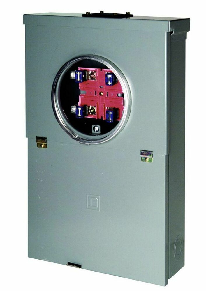 100 Amp 10 Space 20 Circuit Meter Socket Main Breaker