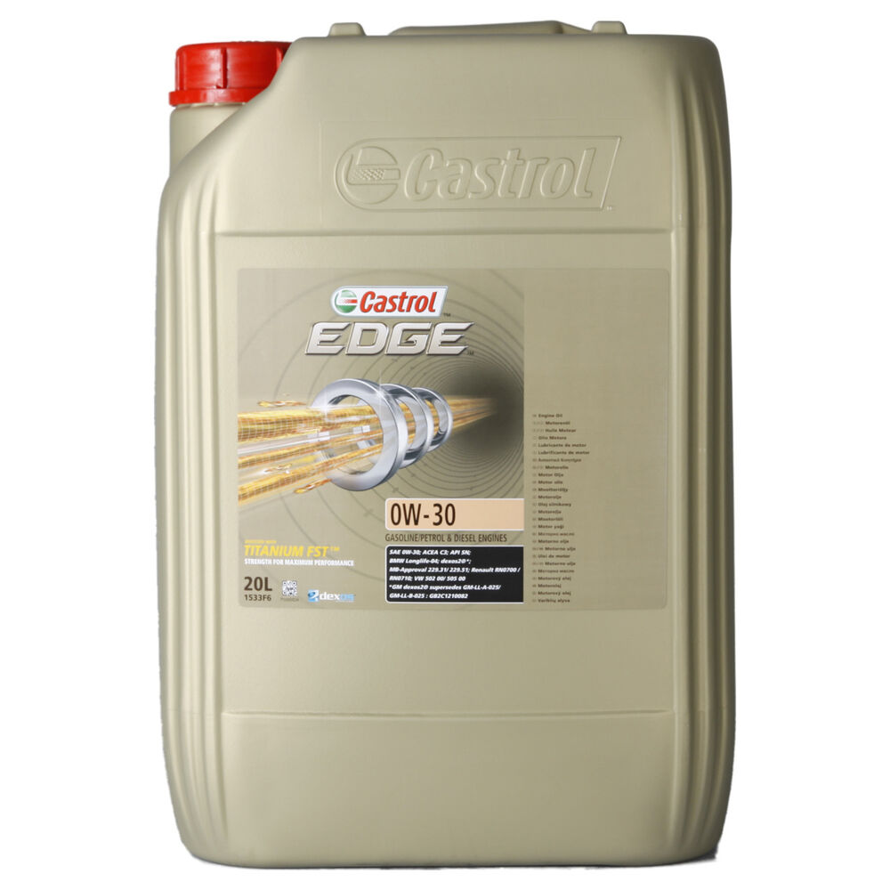 castrol edge titanium fst 0w 30 20 litre canister ebay. Black Bedroom Furniture Sets. Home Design Ideas