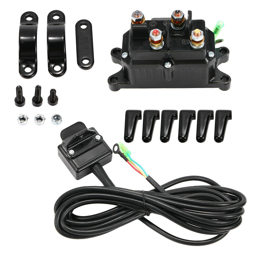 wiring winch for atv 12v atv utv solenoid relay contactor + winch rocker thumb switch wiring combo wi 6006372544740 ... warn a2000 winch wiring diagram for atv