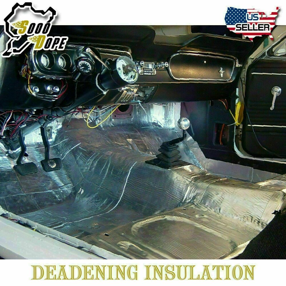 Heat and sound insulation for cars