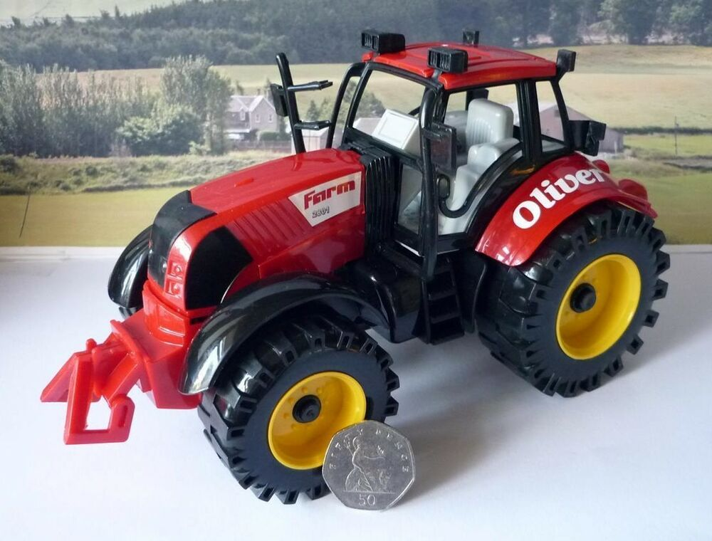 Tractor Toys For Boys : Personalised name red cm farm tractor friction plastic