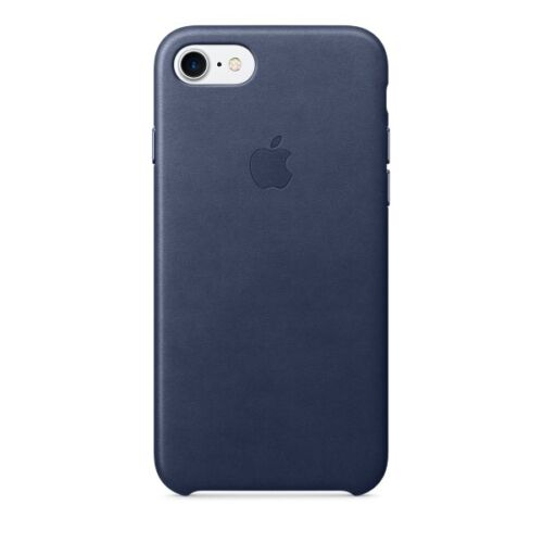 Orginal Apple Leather Case Leder Cover Hülle MMY32ZM/A iPhone 7 Mitternachtsblau