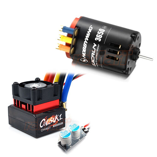 Hobbywing quicrun 3650sd 8 5t motor onisiki 60a esc for 10 5 t brushless motor