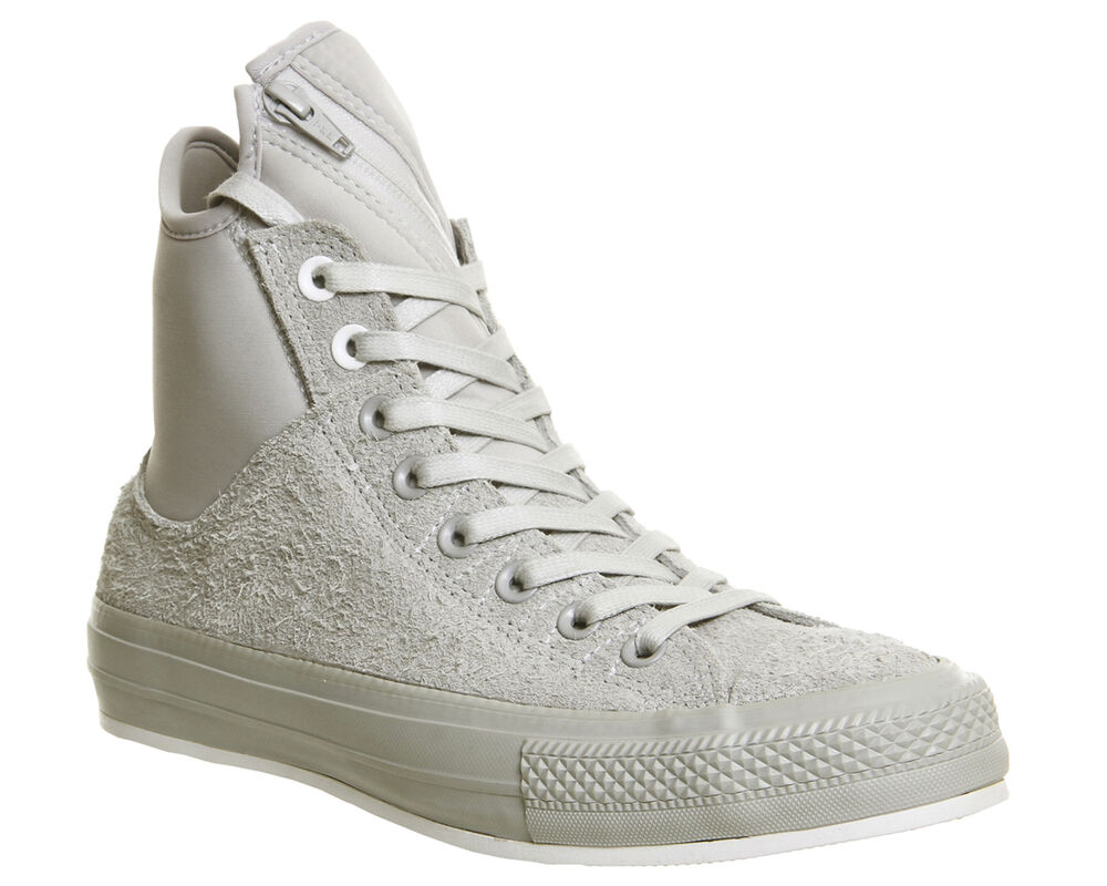 c054a676763a Details about Converse Ctas Ma-1 Zip ASH GREY WHITE Trainers Shoes