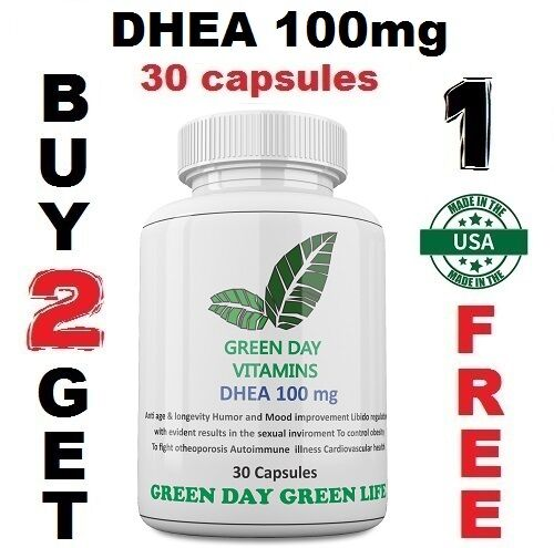 DHEA 100mg Pharmaceutical Grade, Boosts Metabolism, Healthy Aging Made USA