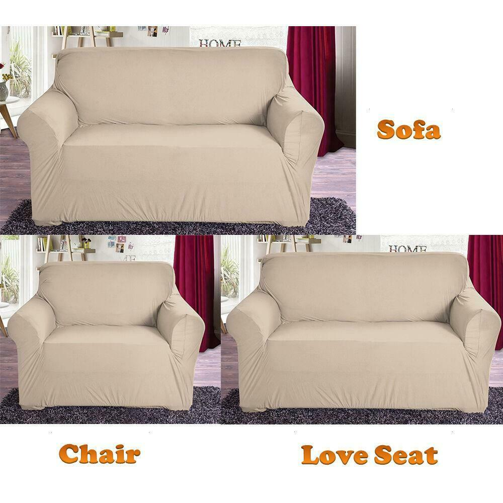New slipcover stretch sofa cover sofa with loveseat chair for Couch and loveseat