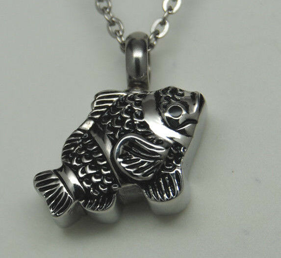 fish cremation jewelry fish urn necklace fisherman